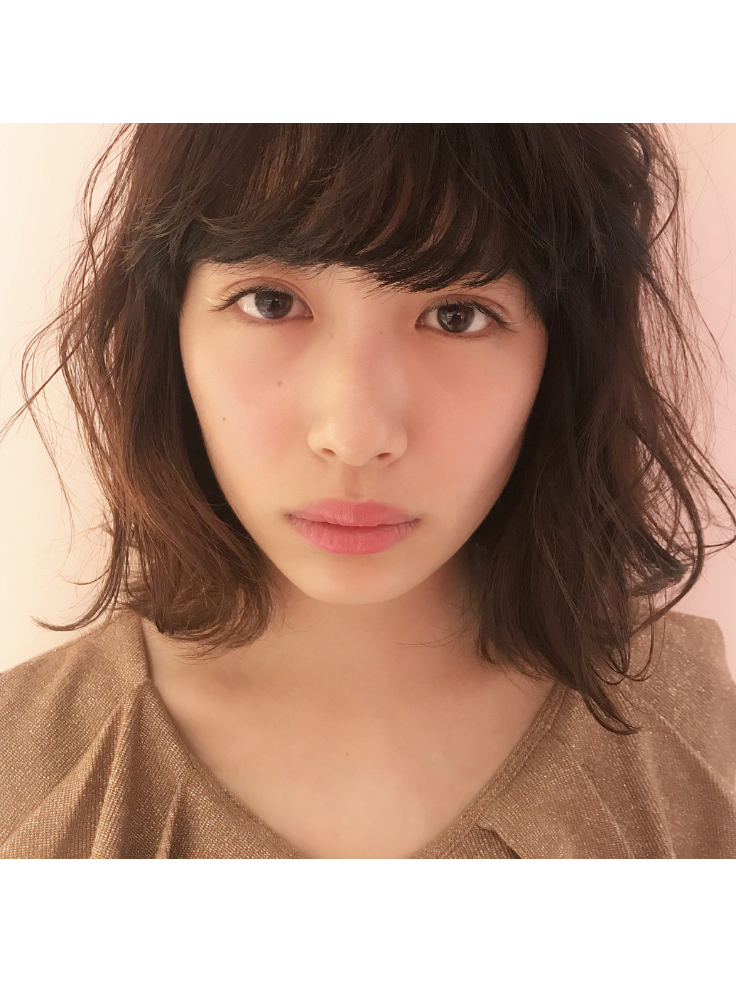 natural curl×brown eyelash